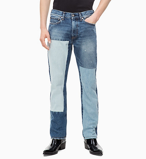 CALVIN KLEIN JEANS CKJ 035 Straight Patched Jeans - SHANON BLUE - CALVIN KLEIN JEANS THE DENIM INDEX - main image