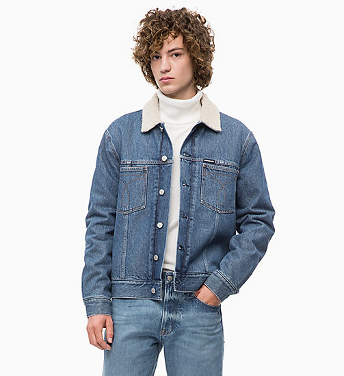 CALVIN KLEIN JEANS Sherpa Denim Trucker Jacket - NEPAL BLUE - CALVIN KLEIN JEANS FALL DREAMS - main image