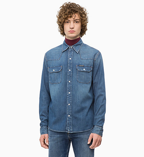 CALVIN KLEIN JEANS Western Denim Shirt - BARCELONA BLUE -  NEW ICONS - main image