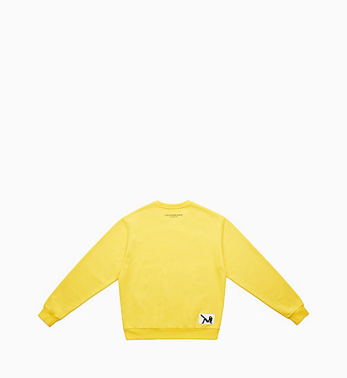 CALVIN KLEIN JEANS Icon Printed Sweatshirt - LEMON YELLOW - CALVIN KLEIN JEANS MEN - detail image 1