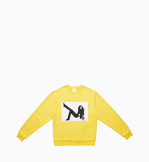 CALVIN KLEIN JEANS Icon Printed Sweatshirt - LEMON YELLOW - CALVIN KLEIN JEANS MEN - main image