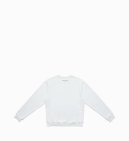 CALVIN KLEIN JEANS Embroidered Sweatshirt - BRIGHT WHITE / FIST LADY - CALVIN KLEIN JEANS CLOTHES - detail image 1