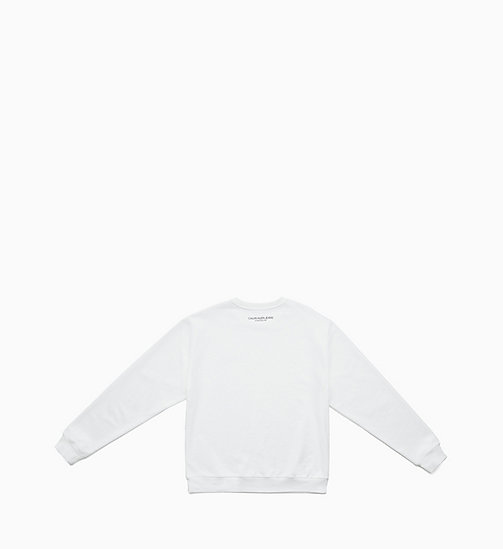 CALVIN KLEIN JEANS Embroidered Sweatshirt - BRIGHT WHITE / EAGLE - CALVIN KLEIN JEANS TOPS - detail image 1