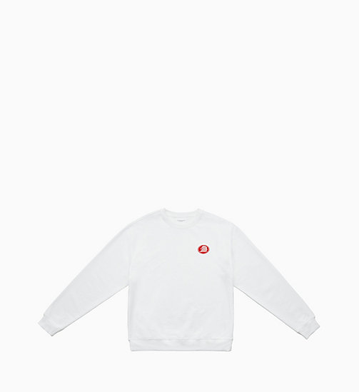 CALVIN KLEIN JEANS Embroidered Sweatshirt - BRIGHT WHITE / EAGLE - CALVIN KLEIN JEANS TOPS - main image