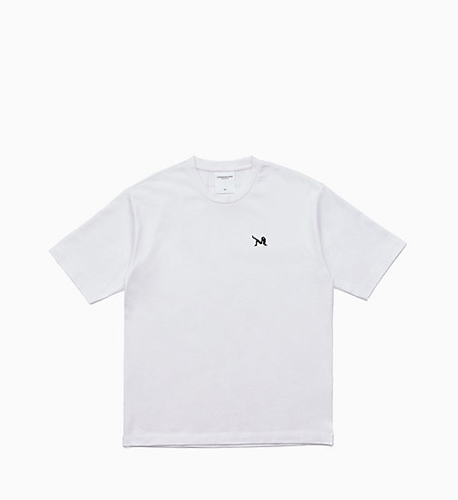 CALVIN KLEIN JEANS Icon Embroidered T-shirt - BRIGHT WHITE / BLACK - CALVIN KLEIN JEANS EST. 1978 - main image