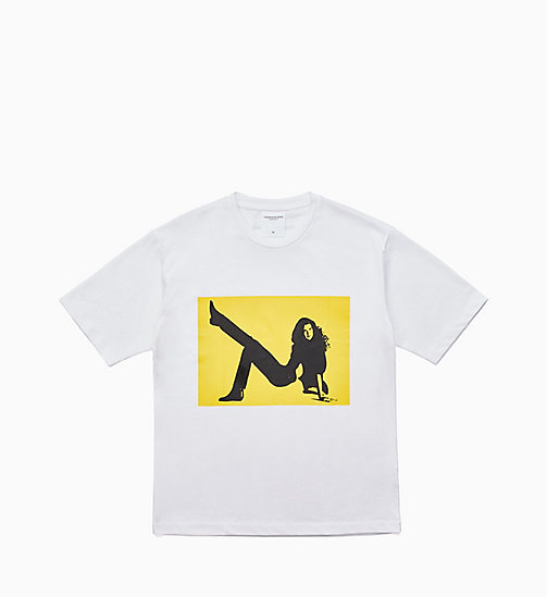 CALVIN KLEIN JEANS Icon Printed T-shirt - BRIGHT WHITE / YELLOW - CALVIN KLEIN JEANS CLOTHES - main image