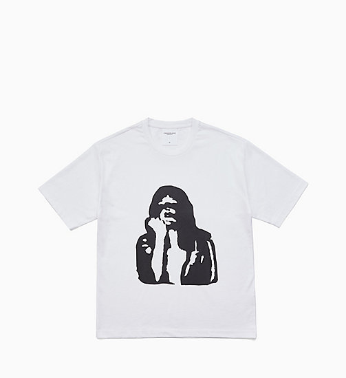 CALVIN KLEIN JEANS Printed T-shirt - BRIGHT WHITE / FIST LADY - CALVIN KLEIN JEANS MEN - main image