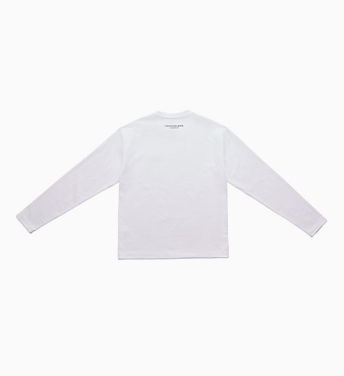 CALVIN KLEIN JEANS Icon Embroidered Long Sleeve T-shirt - BRIGHT WHITE / YELLOW - CALVIN KLEIN JEANS EST. 1978 - detail image 1