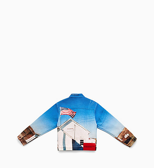 CALVIN KLEIN JEANS Landscape Denim Trucker Jacket - DIGITAL SCHOOL FLAG - CALVIN KLEIN JEANS CLOTHES - detail image 1
