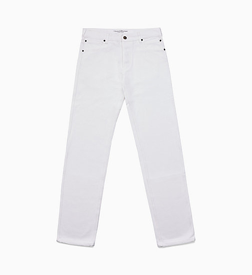 CALVIN KLEIN JEANS Jean Straight - WHITE RINSE - CALVIN KLEIN JEANS HOMMES - image principale