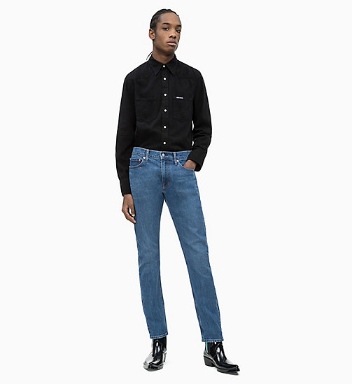 CALVIN KLEIN JEANS Denim Omega Shirt - BUCKAREST BLACK - CALVIN KLEIN JEANS NEW IN - detail image 1