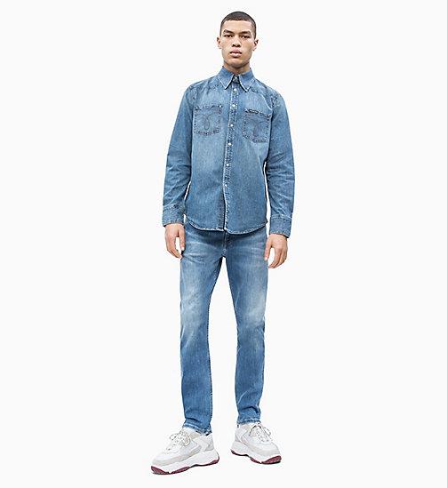 ... CALVIN KLEIN JEANS Western Denim Shirt - TWINKLE BLUE - CALVIN KLEIN  JEANS DENIM SHOP - 6e6fb7bead1f