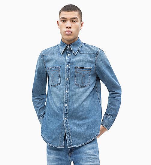 NEW CALVIN KLEIN JEANS Western Denim Shirt - TWINKLE BLUE - CALVIN KLEIN  JEANS DENIM SHOP ... 9b0978f187ad