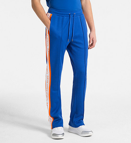 CALVIN KLEIN JEANS Side-Stripe Track Pants - BALEINE BLUE - CALVIN KLEIN JEANS CALVIN KLEIN JEANS CAPSULE - main image