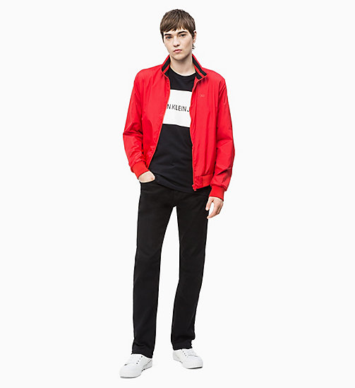 CALVIN KLEIN JEANS Nylon Bomber Jacket - RACING RED - CALVIN KLEIN JEANS CLOTHES - detail image 1