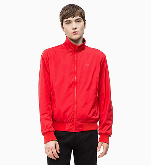 CALVIN KLEIN JEANS Nylon Bomber Jacket - RACING RED - CALVIN KLEIN JEANS CLOTHES - main image