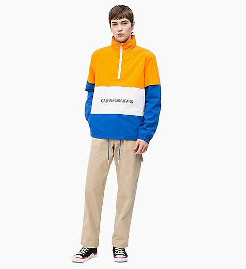 CALVIN KLEIN JEANS Logo Anorak - ORANGE / WHITE / NAUTICAL BLUE - CALVIN KLEIN JEANS NEW IN - detail image 1