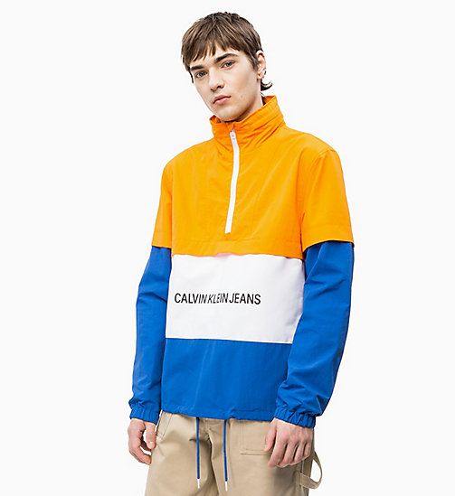 CALVIN KLEIN JEANS Logo Anorak - ORANGE / WHITE / NAUTICAL BLUE - CALVIN KLEIN JEANS NEW IN - main image