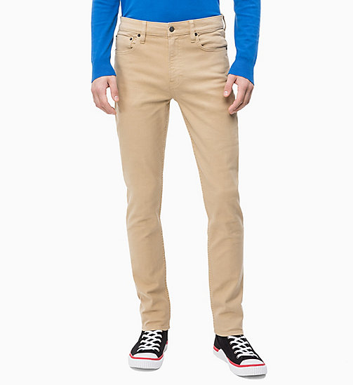 CALVIN KLEIN JEANS CKJ 026 Slim Twill Trousers - TRAVERTINE - CALVIN KLEIN JEANS NEW IN - main image
