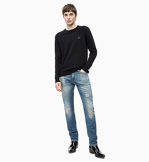CALVIN KLEIN JEANS Cotton Blend Jumper - CK BLACK - CALVIN KLEIN JEANS CLOTHES - detail image 1