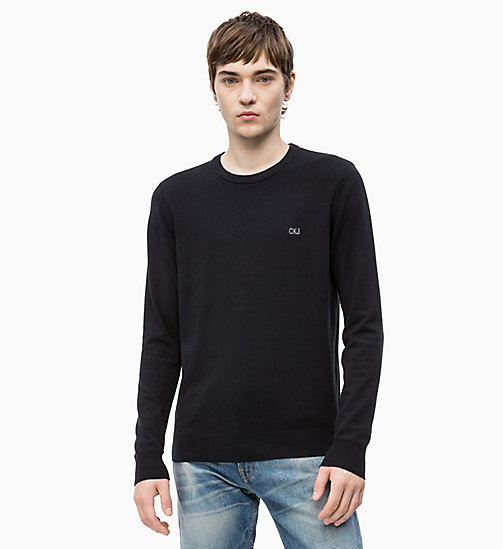 CALVIN KLEIN JEANS Cotton Blend Jumper - CK BLACK - CALVIN KLEIN JEANS CLOTHES - main image