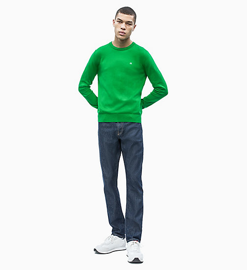 CALVIN KLEIN JEANS Cotton Blend Jumper - JOLLY GREEN - CALVIN KLEIN JEANS NEW IN - detail image 1