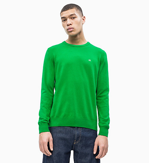 CALVIN KLEIN JEANS Cotton Blend Jumper - JOLLY GREEN - CALVIN KLEIN JEANS NEW IN - main image