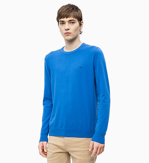 CALVIN KLEIN JEANS Pullover aus Baumwoll-Mix - NAUTICAL BLUE - CALVIN KLEIN JEANS NEW IN - main image