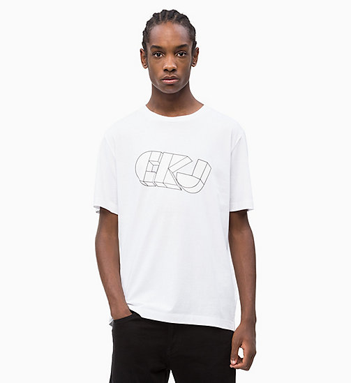 CALVIN KLEIN JEANS Organic Cotton Logo T-shirt - BRIGHT WHITE - CALVIN KLEIN JEANS NEW IN - main image