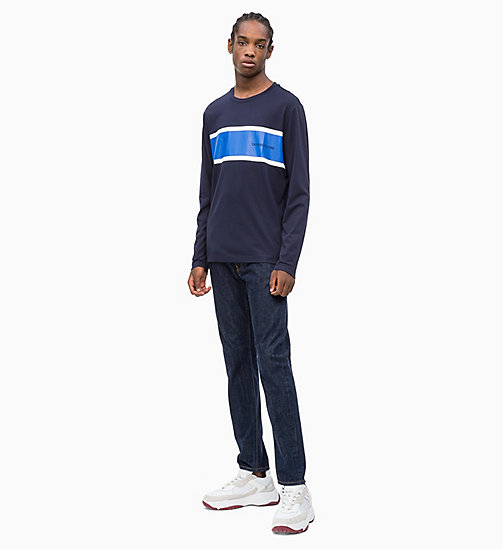CALVIN KLEIN JEANS Long Sleeve Stripe T-shirt - NIGHT SKY - CALVIN KLEIN JEANS NEW IN - detail image 1