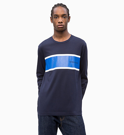 CALVIN KLEIN JEANS Long Sleeve Stripe T-shirt - NIGHT SKY - CALVIN KLEIN JEANS NEW IN - main image