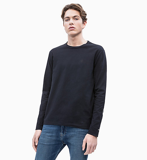 CALVIN KLEIN JEANS Organic Cotton Long-Sleeve T-shirt - CK BLACK - CALVIN KLEIN JEANS LOGO SHOP - main image