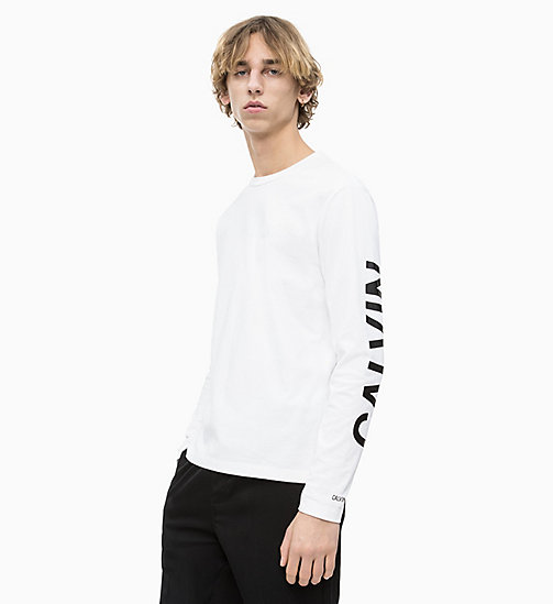 CALVIN KLEIN JEANS Organic Cotton Long-Sleeve T-shirt - BRIGHT WHITE - CALVIN KLEIN JEANS LOGO SHOP - main image