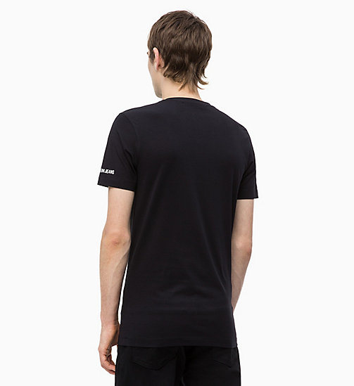 CALVIN KLEIN JEANS Slim Graphic Logo T-shirt - CK BLACK - CALVIN KLEIN JEANS NEW IN - detail image 1