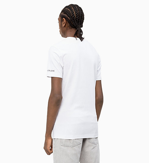 CALVIN KLEIN JEANS Slim Graphic Logo T-shirt - BRIGHT WHITE - CALVIN KLEIN JEANS CLOTHES - detail image 1