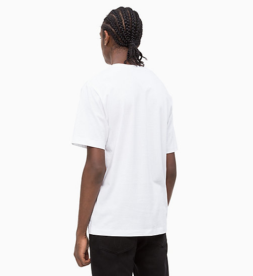 CALVIN KLEIN JEANS Flag Print T-shirt - BRIGHT WHITE - CALVIN KLEIN JEANS NEW IN - detail image 1