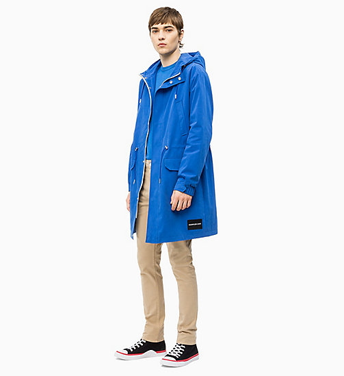 CALVIN KLEIN JEANS Cotton Blend Parka - NAUTICAL BLUE - CALVIN KLEIN JEANS NEW IN - detail image 1