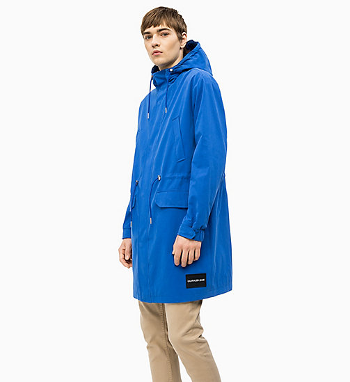 CALVIN KLEIN JEANS Cotton Blend Parka - NAUTICAL BLUE - CALVIN KLEIN JEANS NEW IN - main image