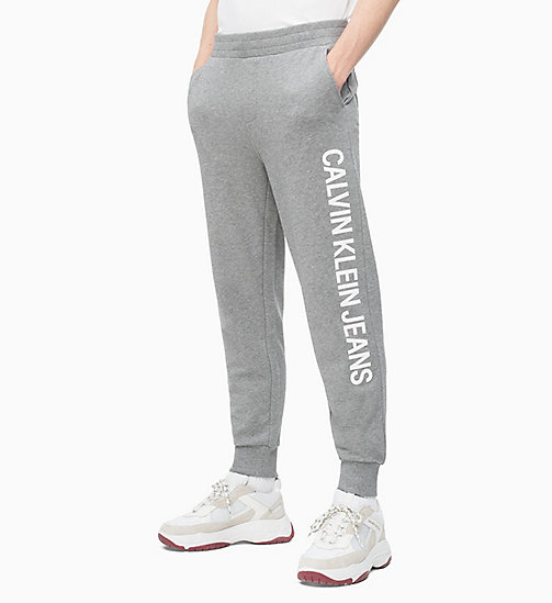 CALVIN KLEIN JEANS Logo-Jogginghose - GREY HEATHER - CALVIN KLEIN JEANS CLOTHES - main image