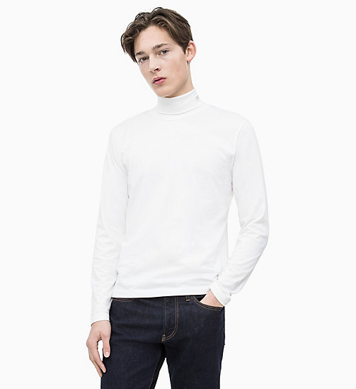 CALVIN KLEIN JEANS Slim Long Sleeve Turtleneck Jumper - BRIGHT WHITE - CALVIN KLEIN JEANS NEW IN - main image