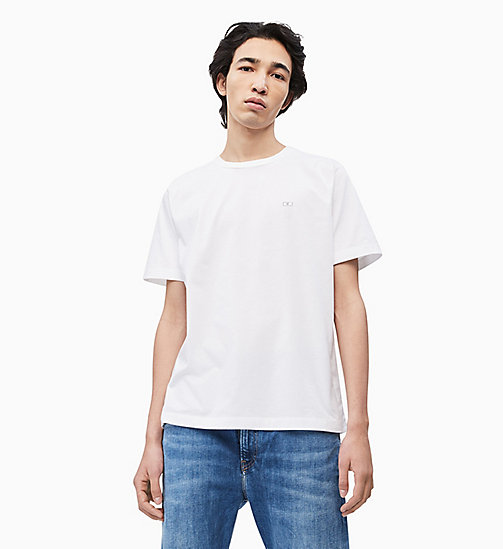 CALVIN KLEIN JEANS Organic Cotton T-shirt - BRIGHT WHITE - CALVIN KLEIN JEANS NEW IN - main image