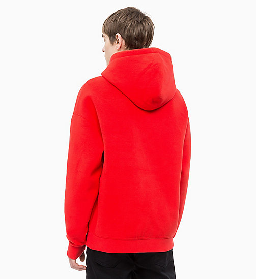 CALVIN KLEIN JEANS Fleece Logo Hoodie - RACING RED - CALVIN KLEIN JEANS CLOTHES - detail image 1