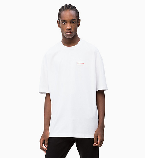 CALVIN KLEIN JEANS Oversized T-Shirt - BRIGHT WHITE - CALVIN KLEIN JEANS NEW IN - main image