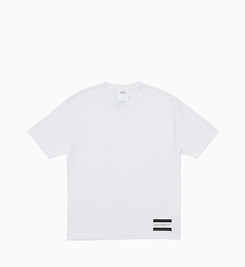 CALVIN KLEIN JEANS Est. 1978 Small Patch T-shirt - BRIGHT WHITE / CK BLACK - CALVIN KLEIN JEANS TOPS - main image