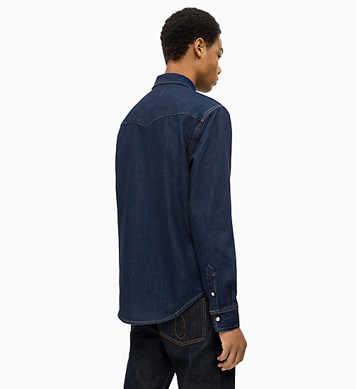 CALVIN KLEIN JEANS Western Denim Shirt - RINSE -  NEW ICONS - detail image 1