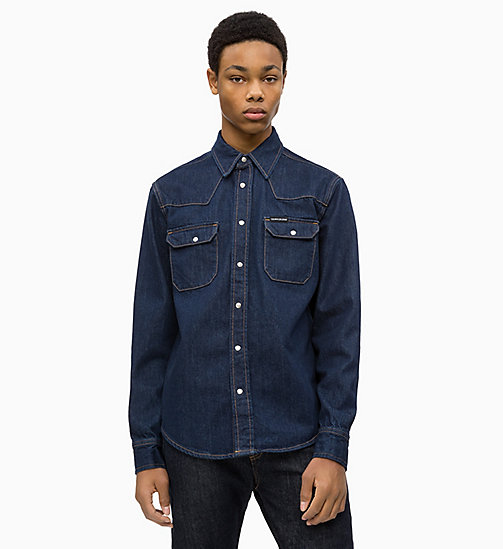 CALVIN KLEIN JEANS Western Denim Shirt - RINSE -  NEW ICONS - main image
