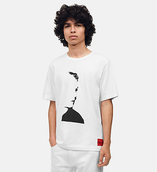 CALVIN KLEIN JEANS T-shirt met Warhol-portret - BRIGHT WHITE/BLACK -  ANDY WARHOL - main image