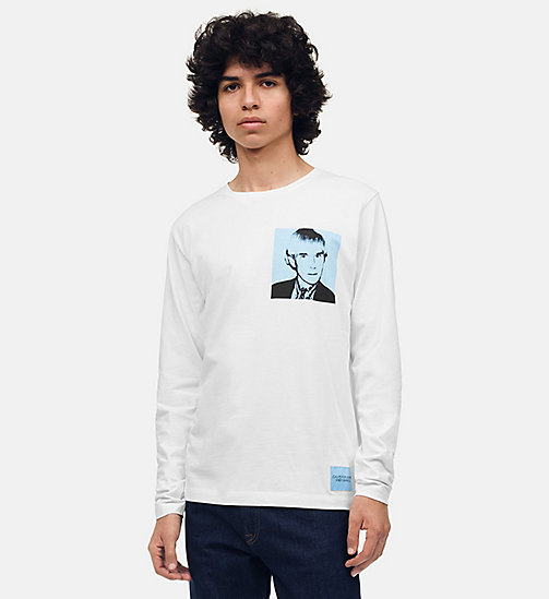 CALVIN KLEIN JEANS Warhol Portrait Long Sleeve T-shirt - BRIGHT WHITE / BLUE - CALVIN KLEIN JEANS ANDY WARHOL - main image