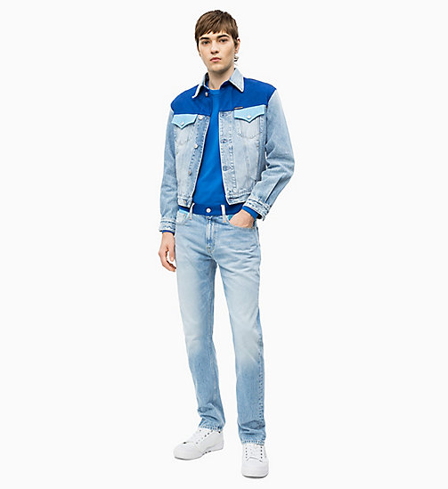 CALVIN KLEIN JEANS CKJ 026 Slim Colour Block Jeans - MOHONK LIGHT BLUE BLOCKED - CALVIN KLEIN JEANS DENIM SHOP - main image 1