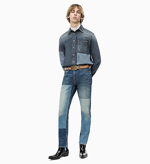 CALVIN KLEIN JEANS Blocked Denim Utility Shirt - FLOUNDER BLOCK - CALVIN KLEIN JEANS DENIM SHOP - detail image 1